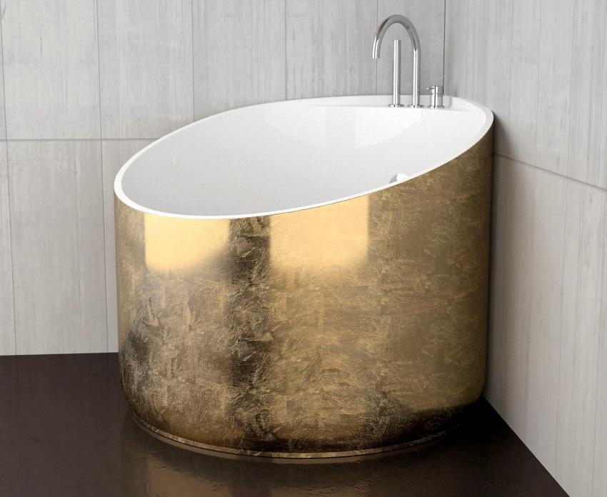 Глубокая сидячая ванна считается трендом 2017-2018 годов