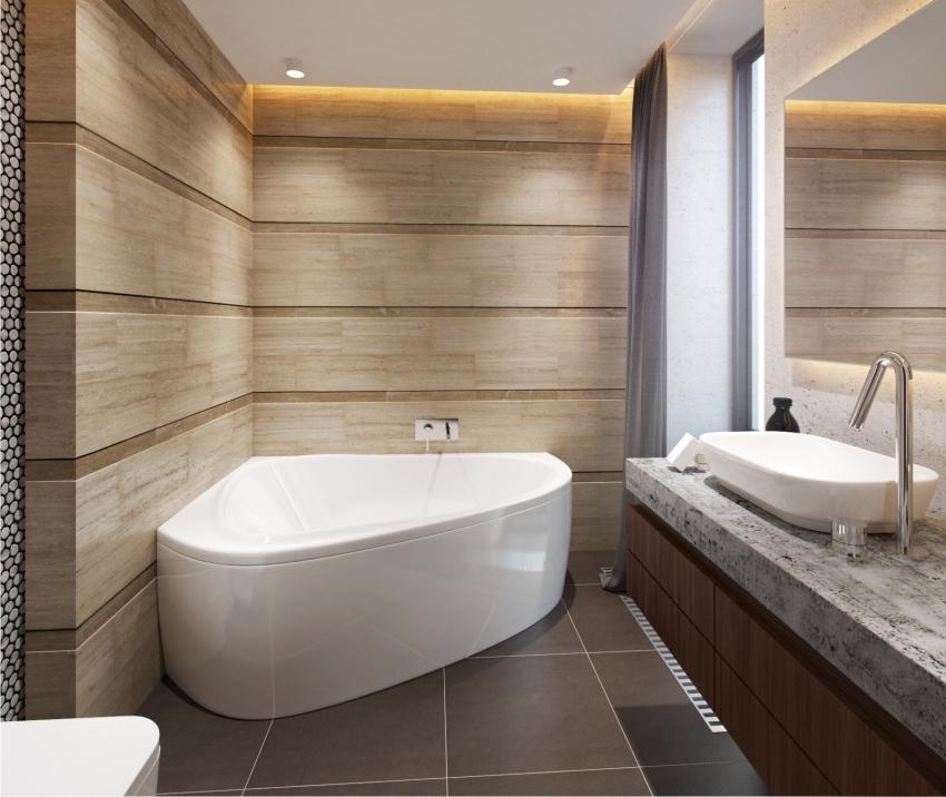 Угловые ванны могут быть ориентированы как влево, так и в право, но стоит учесть, что это разные модели