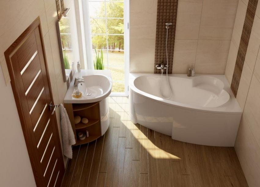Популярная модель угловой ванны Ravak Asymmetric размером 160x105
