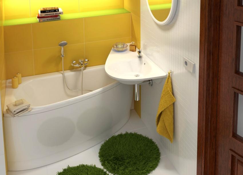 Угловая ванна для небольшой ванной комнаты Ravak Avocado 160х70