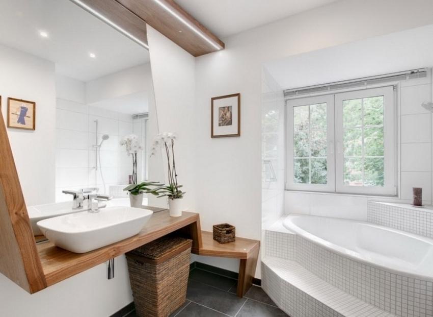 Форма и размер ванны должен подходить под выбранный интерьер ванной комнаты