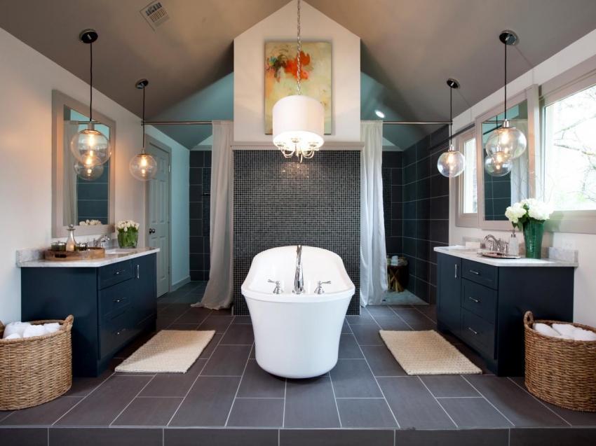 Современные акриловые ванны представлены в большим разнообразием форм, цветов и размеров