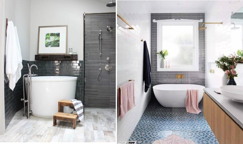 Для небольших ванных комнат можно использовать глубокие ванны круглой или овальной формы