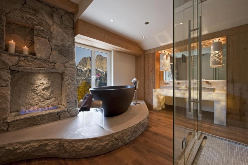 Необычные ванны из редких материалов используются для оформления эксклюзивных интерьеров ванных комнат