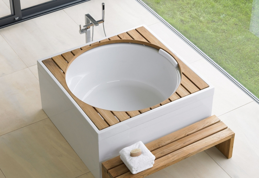 Ванны круглой формы подходят только для габаритных ванных комнат
