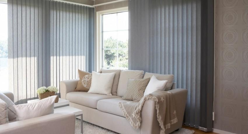 Вертикальные тканевые жалюзи на окна: надежная и долговечная защита от солнца