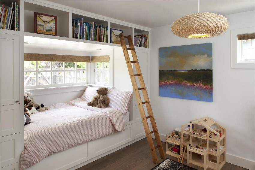 Эркерное помещение в детской комнате может нести не только декоративную, но и функциональную нагрузку