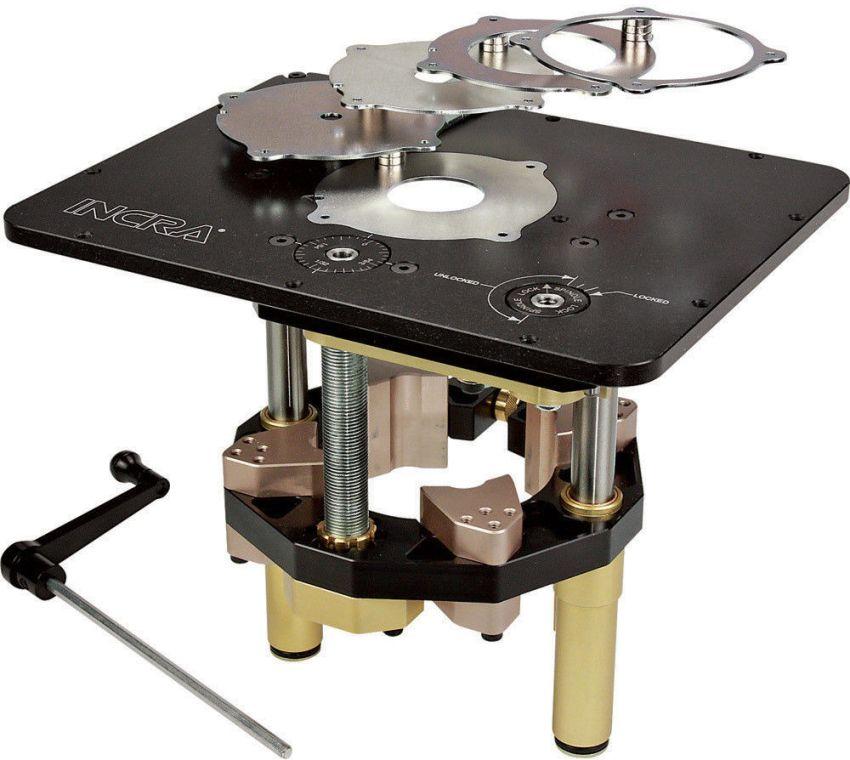 Лифт позволяет оперативно заменять режущий инструмент на самодельном станке, а также максимально точно выверять геометрические параметры фрезеруемых изделий