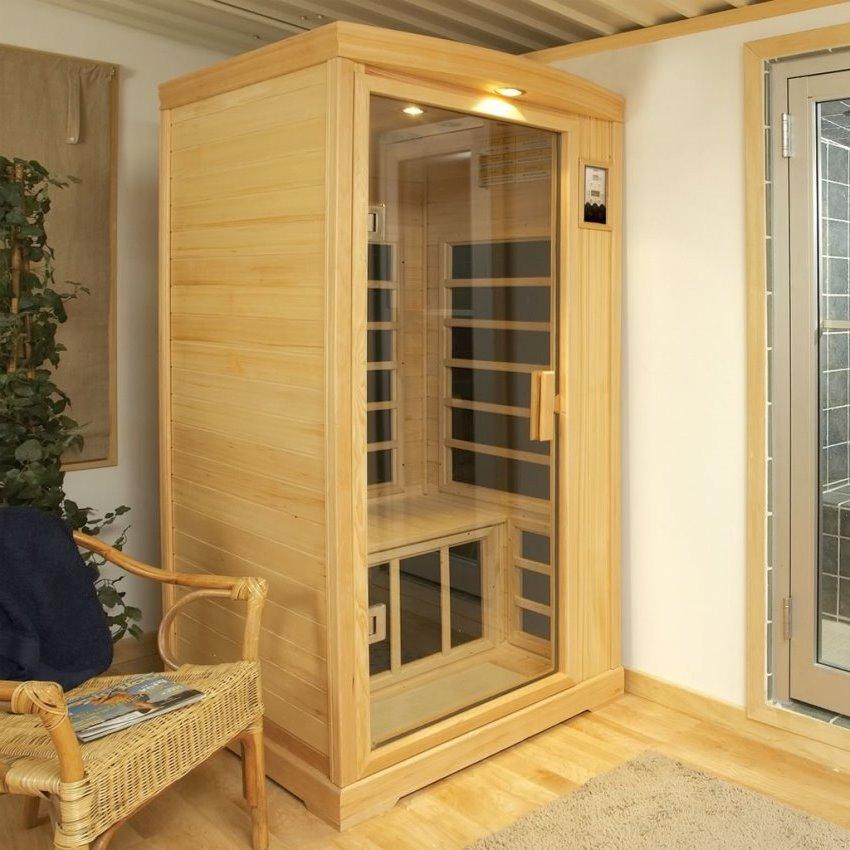 Одноместная инфракрасная кабинка - прекрасный вариант для малогабаритных квартир