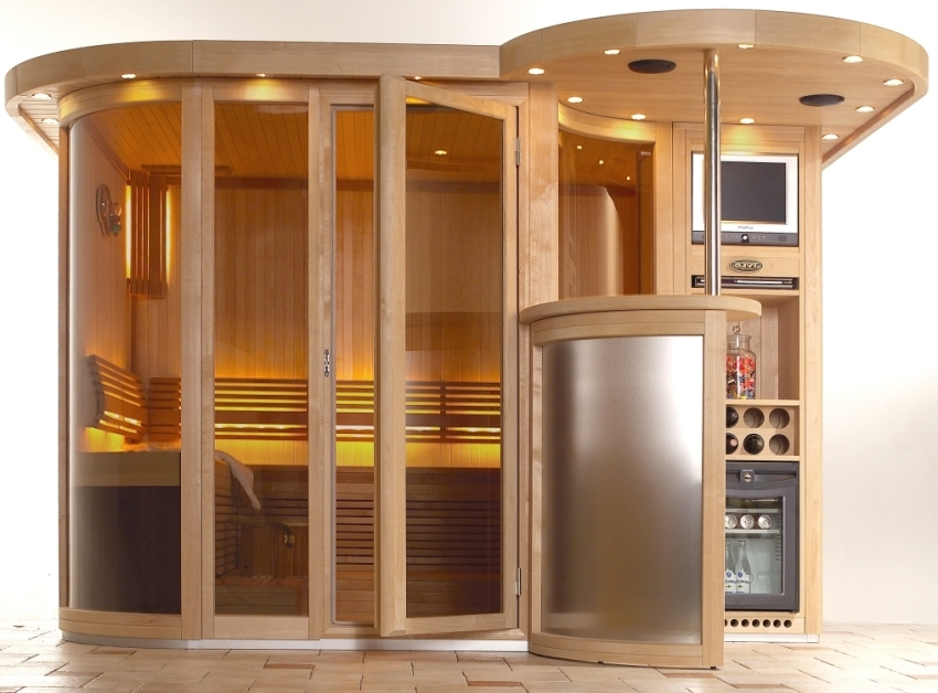 Интересное исполнение инфракрасной кабинки подходящее для домашнего спортзала