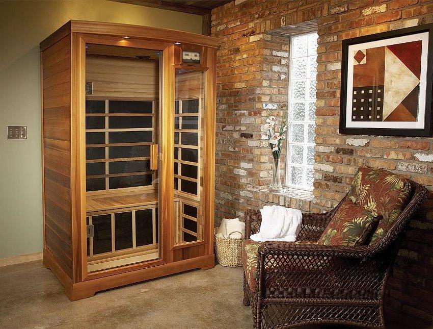 Оборудуя инфракрасную сауну у себя в доме, не стоит забывать о дополнительном месте для отдыха после процедуры