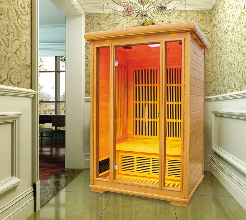 Многообразие форм, размеров и технических характеристик позволяют установить инфракрасную сауну практически в любом помещении