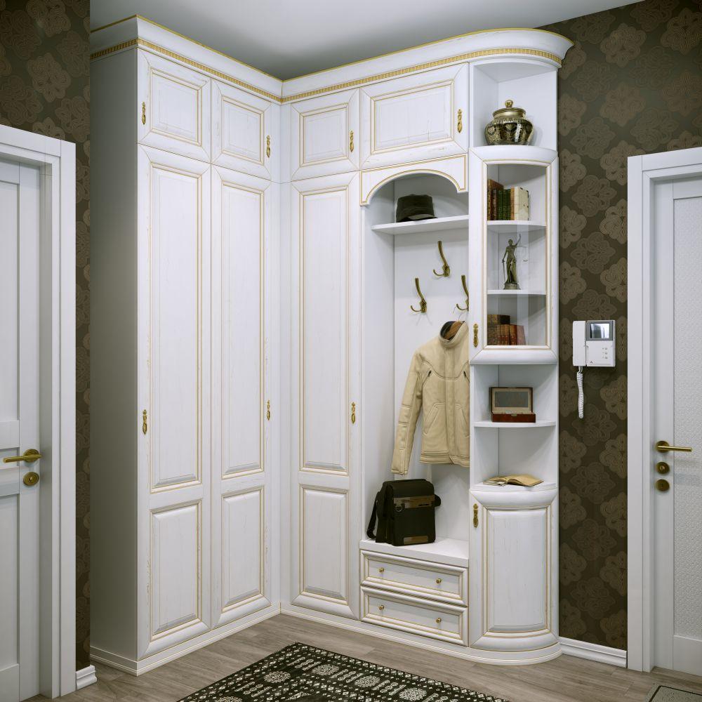 Если правильно сочетать все модули угловых прихожих, то помещение будет выглядеть просторным, эстетически привлекательным и функциональным