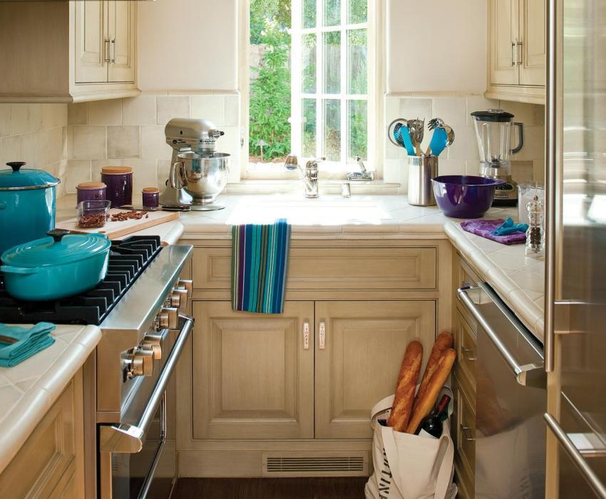 П-образное размещение кухонного гарнитура