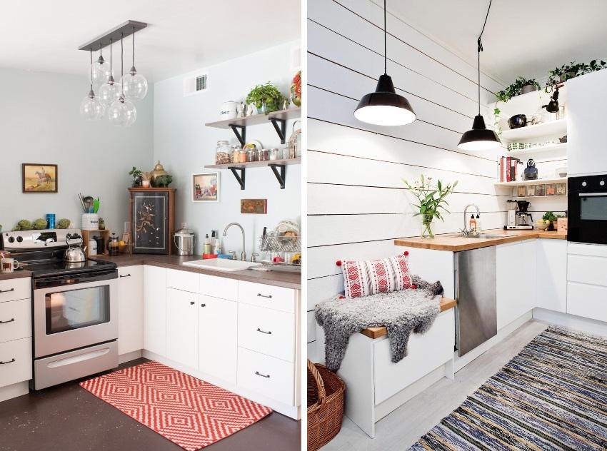 Примеры углового размещения мебели на кухне в хрущевке