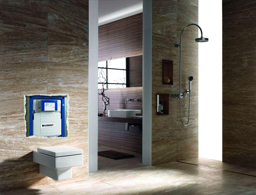 Производитель Geberit выпускает качественные и надежные инсталляции в комплекте с унитазом, делающие санузел более комфортным и удобным
