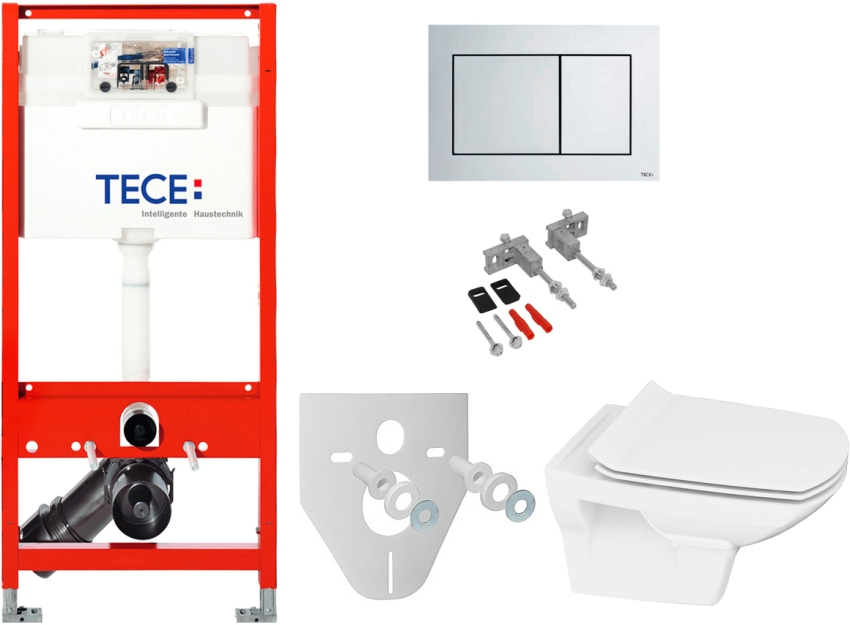 Инсталляция от Tece имеет ряд преимуществ перед конкурентами, самое главное - к ней подходят все варианты клавиш фабрики, включая дизайнерские