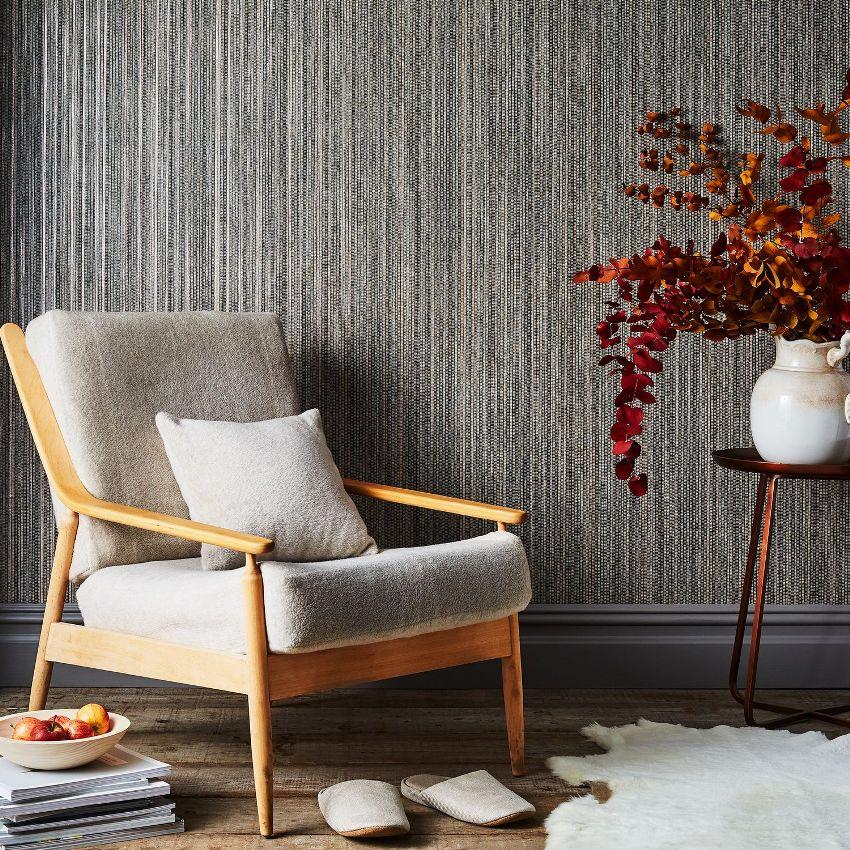 Рельефность и плотность бамбуковых полотен отлично скрывает мелкие изъяны стен
