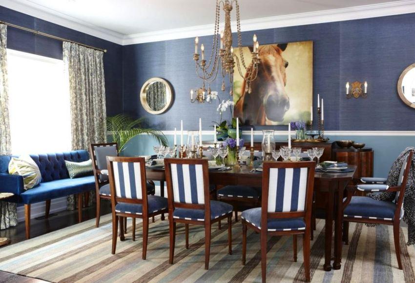 Дизайнеры часто используют насыщеные оттенки бамбуковых полотен для увеличения пространства и просто интересного решения оформления стен