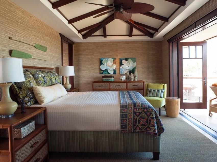 С помощью натурального полотна бамбуковых обоев можно воплотить в жизнь разнообразные дизайнерские идеи