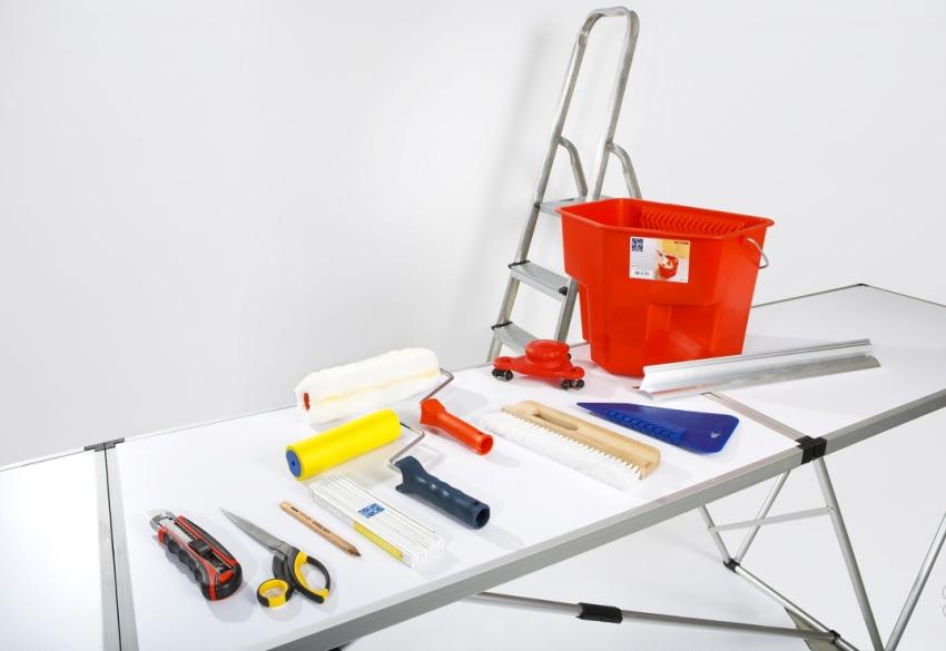 Стандартный набор инструментов для поклейки бамбуковых обоев