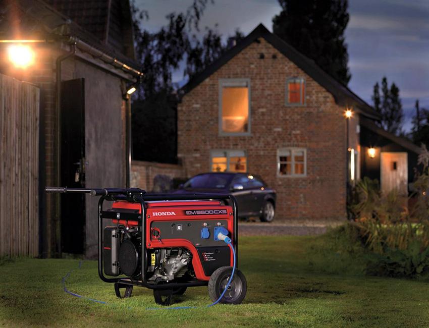 Даже не очень мощные генераторы способны обеспечивать энергией достаточно большую площадь