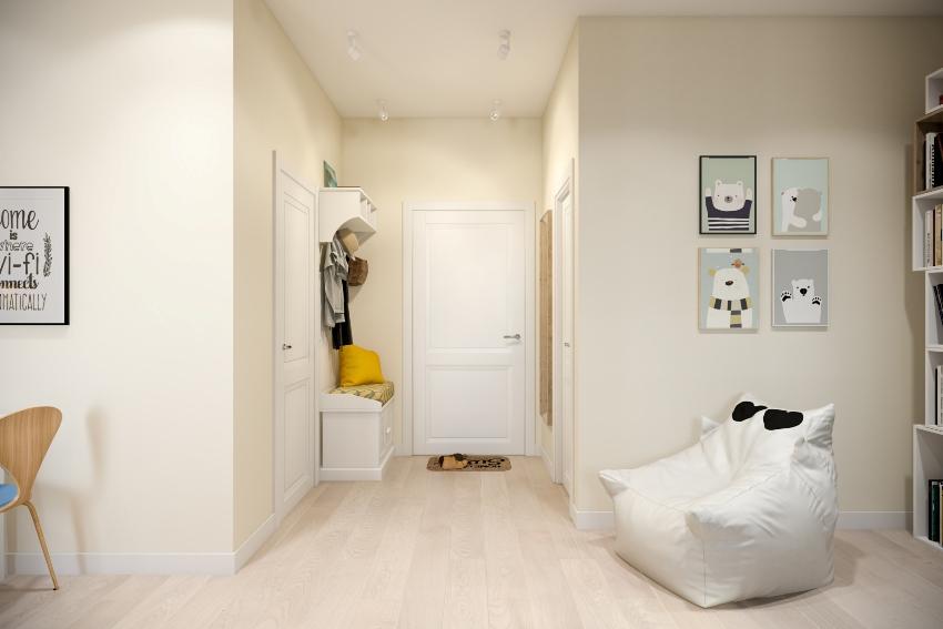 Идеально белый потолок – залог успеха в оформлении любой прихожей