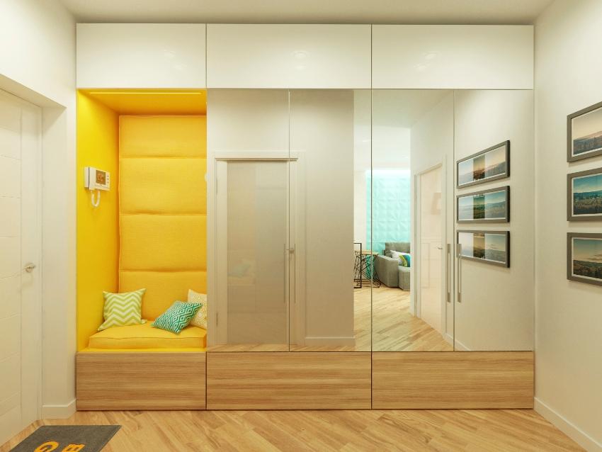 Светлые оттенки помогут не только визуально увеличить небольшое помещение, но и придадут легкости, чистоты и элегантности интерьеру коридора