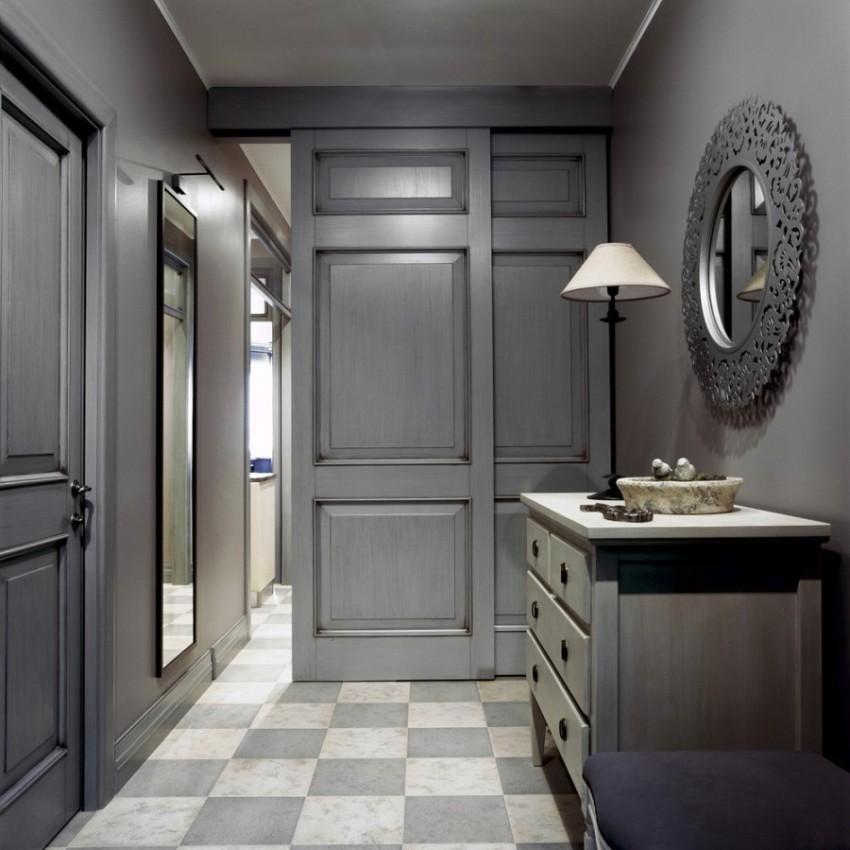 Для того чтобы переход в остальные помещения из прихожей был плавным, органичным, вся отделка этого пространства должна быть нейтральной