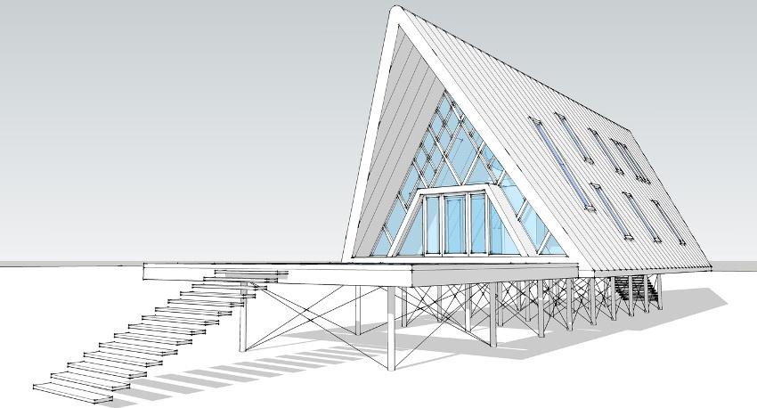 Найти готовый типовый проект дома-палатки сложно, так как такой вариант строительства не слишком популярен и распространён