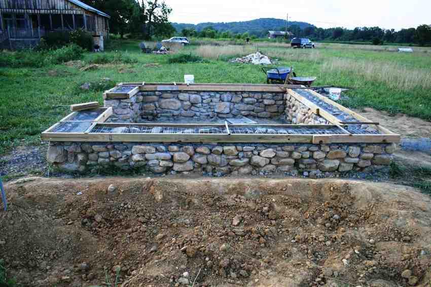 Бутовые фундаменты для дома являются экологически чистыми и отлично противостоят воздействиям почвенных вод