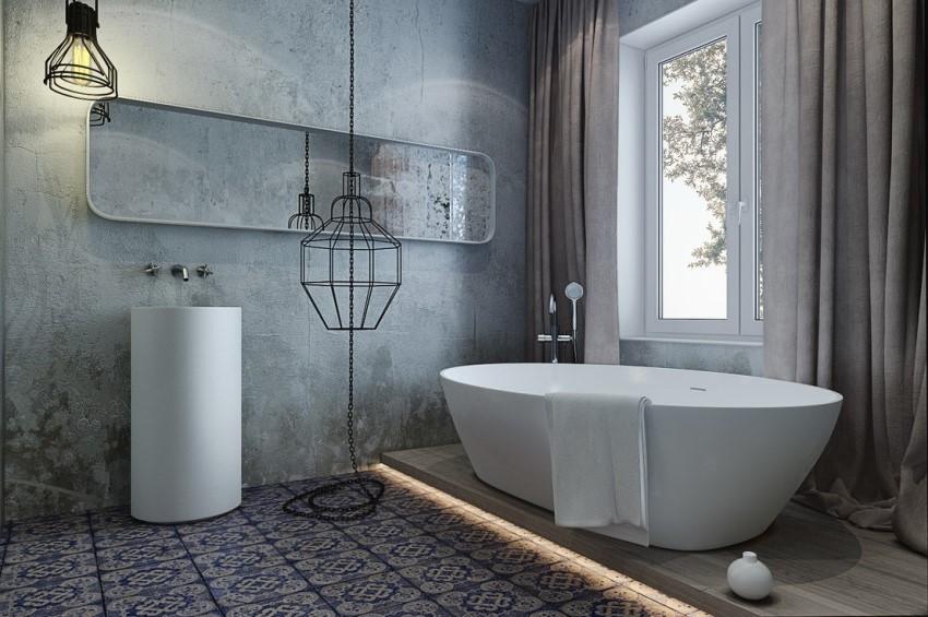 Оформление ванной комнаты в стиле хай-тек