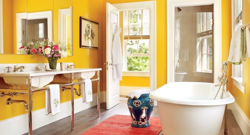Фото покрашеной ванной комнаты облицовка ванной комнаты пвх панелями