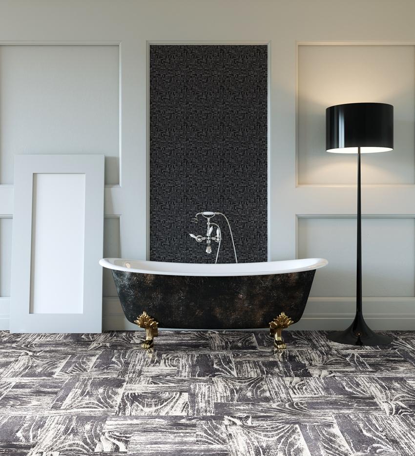 Толщина покрытия под ванной или тяжелой мебелью должна быть больше чем толщина основного покрытия
