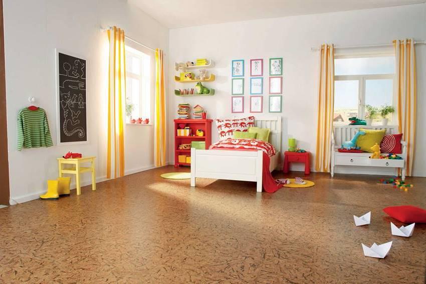 Покрытие из пробки мягкое, теплое и, что немаловажно для панельных квартир, тихое