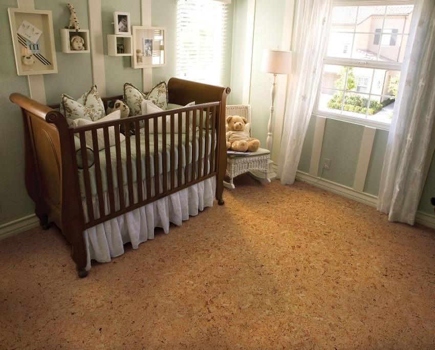Пробка - наилучший вариант напольного покрытия для детской комнаты