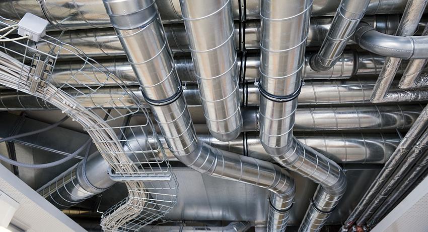 Система вентиляции на крупном производстве
