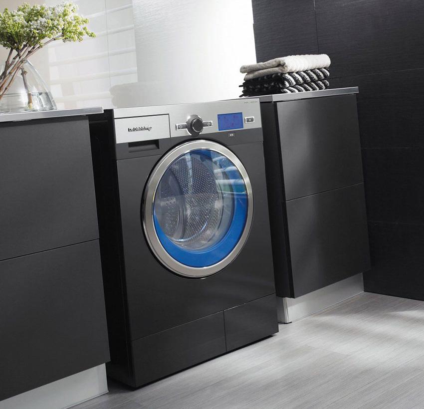 Дизайн стиральной машины грамотно вписан в интерьер