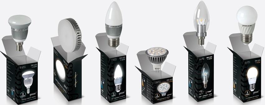 Компания Gauss выпускает широкий ассортиментный ряд осветительного оборудования