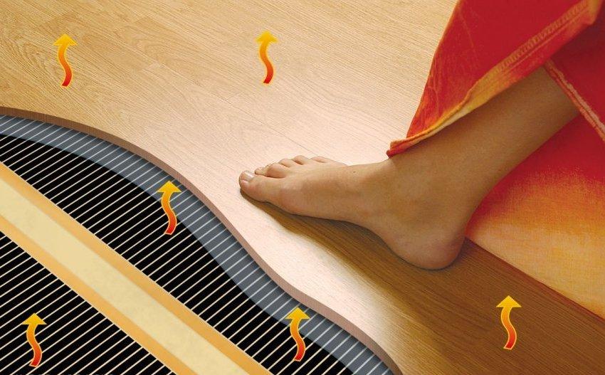 В отличие от других отопительных систем, инфракрасные полы воздействуют непосредственно на поверхности нагреваемых предметов и совершенно не осушают воздух в помещении