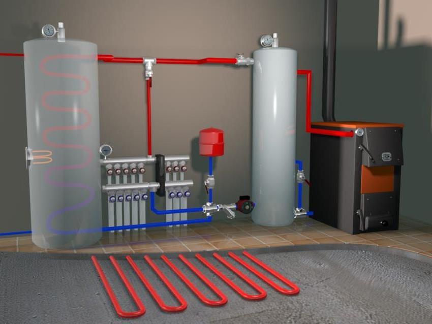 Трехмерный проект отопительной системы для загородного дома