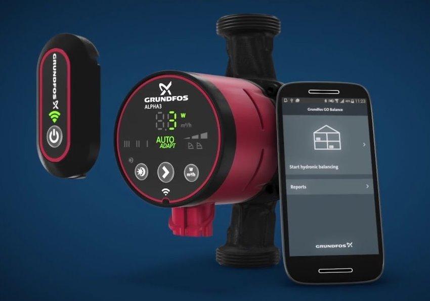 Модель насоса ALPHA3 оснащается специальным блоком, который позволяет передавать данные о работе циркуляционного устройства на смартфон