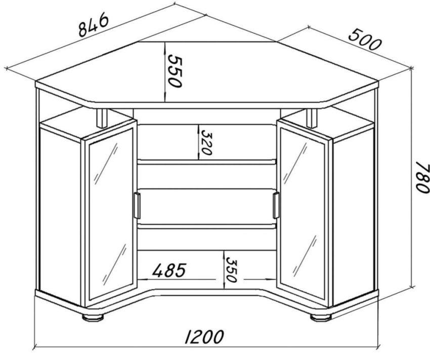 Схема конструкции барной стойки