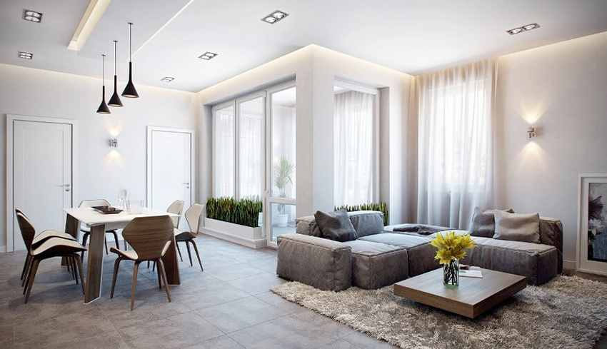 На основе белых дверей можно создать стильный, лаконичный и ненавязчивый дизайн