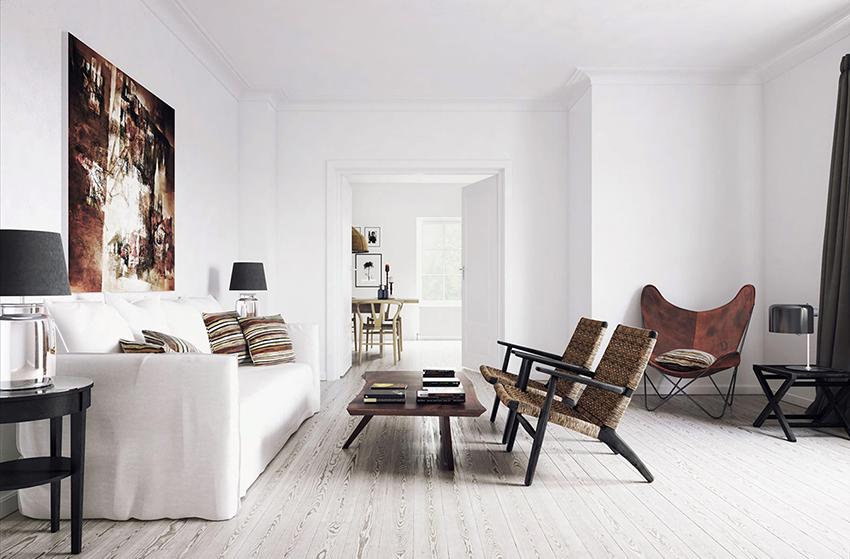 Белый цвет в интерьере создает ощущение легкости и визуально расширяет пространство