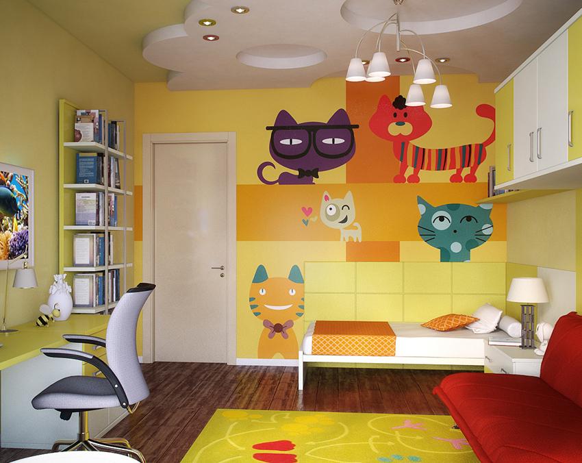 Оформлением детской комнаты можно заняться совместно со своими детьми