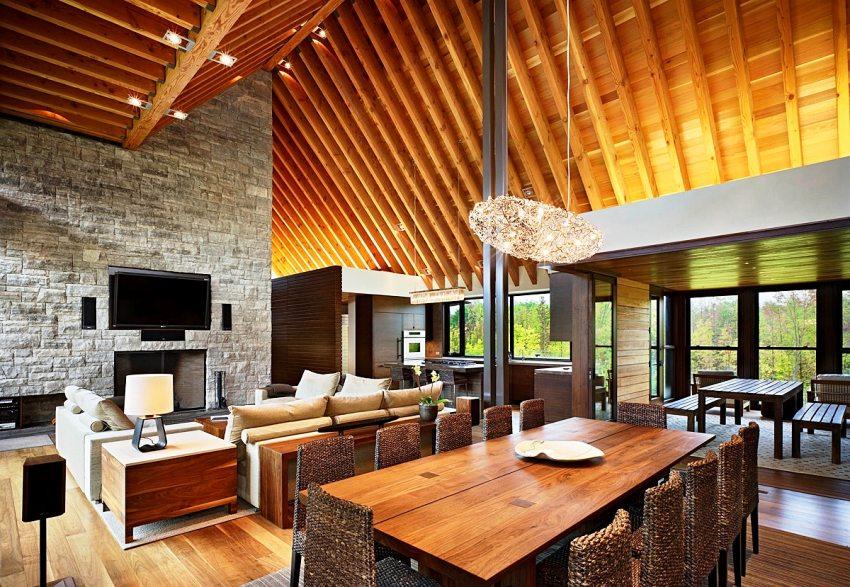 Чаще всего выполняется отделка интерьера искусственным камнем именно на бетонной основе, поскольку этот вид материала отличается широкими декоративными возможностями и относительно простым способом производства