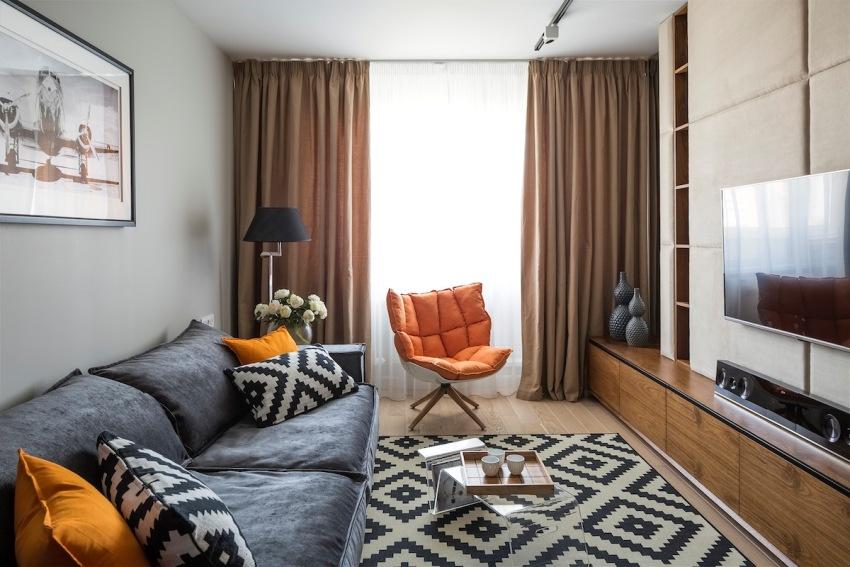 Чтобы стильно обустроить квадратные метры однокомнатной квартиры, необходимо вначале составить дизайн-проект, продумать все детали