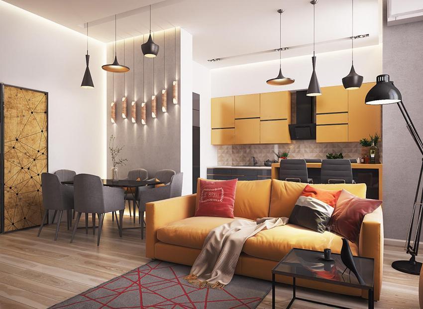 Дизайн квартиры-студии должен быть не только красивым, но и функциональным