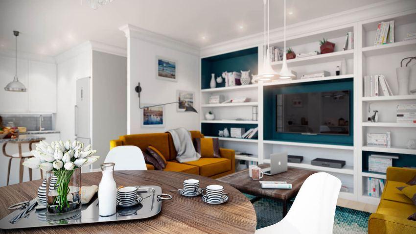 В отличие от классической версии квартиры, студия не имеет внутренних перегородок